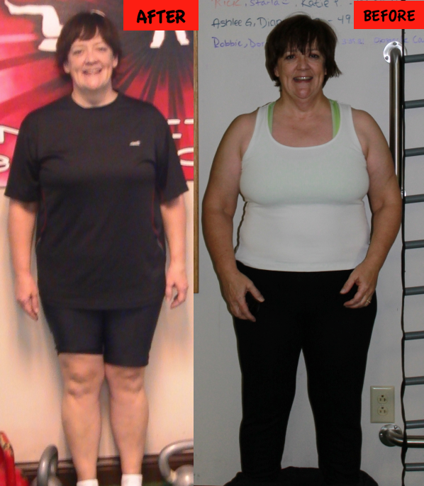 Laurie wins columbus transformation contest with Yun Fit Bootcamp