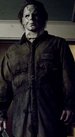 Michael Myers Halloween dress up for Columbus Boot camp for charity