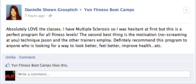 yun fit bootcamp testimonial for weight loss in reynoldsburg