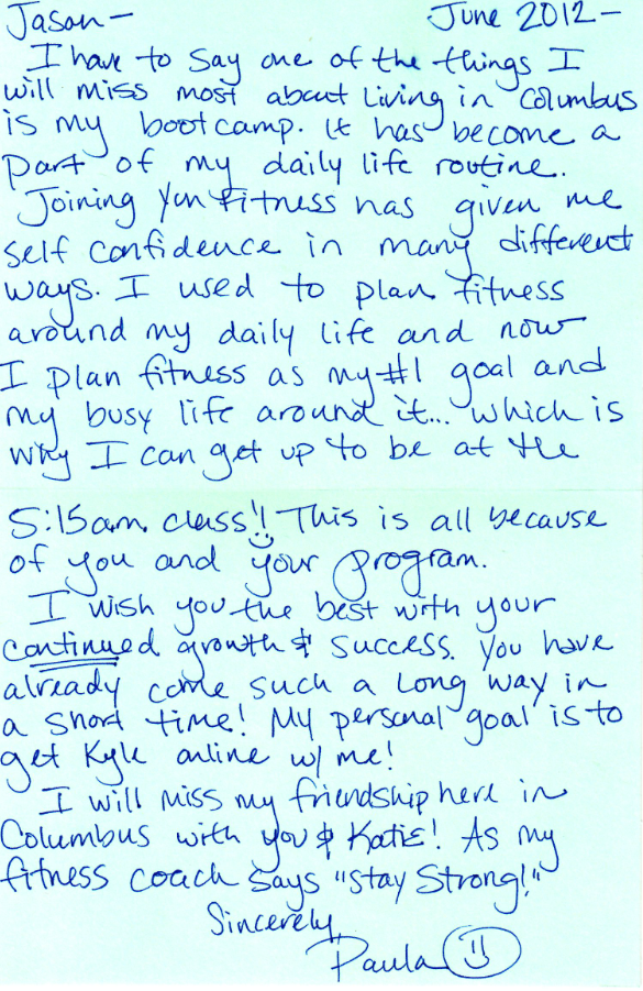 testimonial for yun fit the un-bootcamp in hilliard