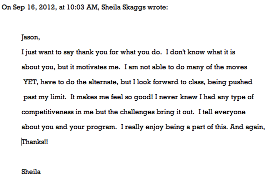sheila testimonial weight loss and fitness columbus